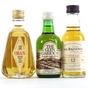 Highland Miniature Selection x 3 / Including Oban 12 Year Old