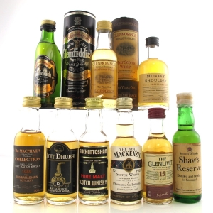Miscellaneous Scotch Whisky Miniatures x 9