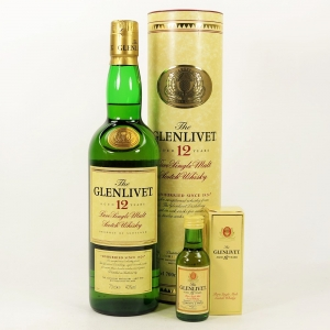 Glenlivet 12 Year Old with Miniature
