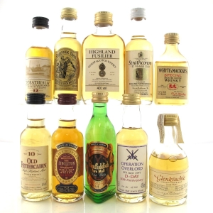 Scotch Whisky Miniatures x 10