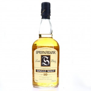Springbank 10 Year Old 75cl 1990s / US Import