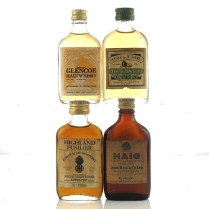 Scotch Whisky Miniature Selection x 4 / including Glenlivet 1970s
