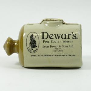 Dewars Scottish Pig Cermamic Decanter 20cl Front