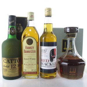 Scotch Whisky Selection 4 x 70cl / Including Dunhill