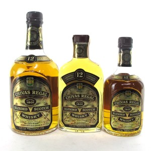 Chivas Regal 12 Year Old 1970s/1980s US Import Selection x 3