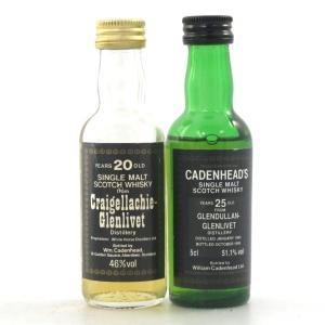 Glendullan 25 Year Old and Craigellachie 20 Year Old Cadenhead's 2 x 5cl