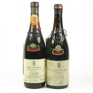 Antico Podere Conti Della Cremosina 1969 Barolo and 1965 Dolcetto 72cl x 2