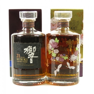 Hibiki 21 Year Old & Hibiki 17 Year Old Kacho Fugetsu 2 x 70cl