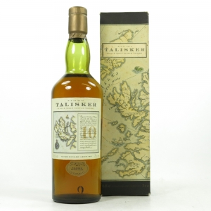 Talisker 10 Year Old Map Label 1990s