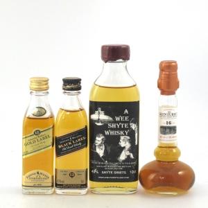 Miscellaneous Whisky Miniature Selection x 4