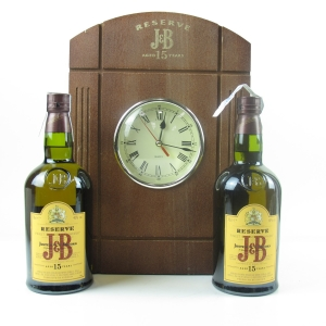 J&B 15 Year 2 x 70cl Including Clock Box