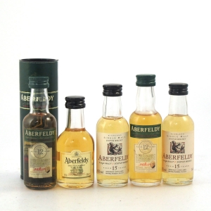 Aberfeldy Miniature Selection 5 x 5cl / Including 2 x Flora and Fauna