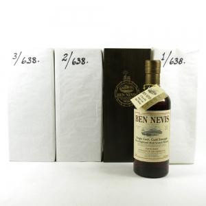 Ben Nevis 1984 Single Cask 25 Year Old 3 x 70cl