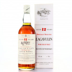 Lagavulin 12 Year Old White Horse early 1980s