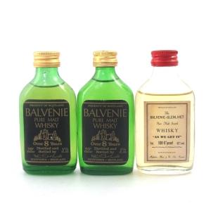 Balvenie 1970s Miniatures x 3 / Including As We Get It