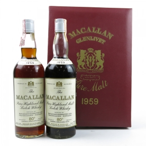 Macallan 1959 Presentation Gift Pack Including 2 Bottles