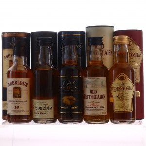 Scotch Malt Whisky Miniatures x 5 including Auchentoshan 10 Year Old