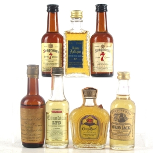 Canadian Whisky Selection 7 x Miniatures