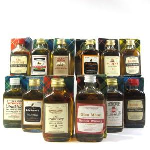 Gordon and MacPhail Flat Bottle Miniature Selection x 12
