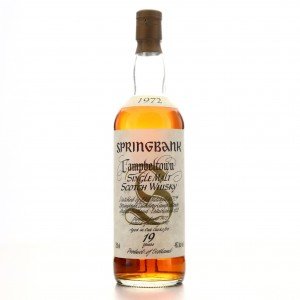 Springbank 1972 19 Year Old 75cl / US Import