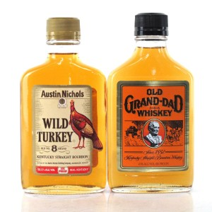 Old Grand-dad & Wild Turkey Old No.8 101 Proof 2 x 20cl 1990s