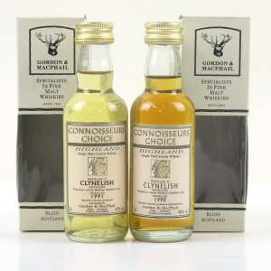 Clynelish 1990 and 1991 Gordon and MacPhail 2 x 5cl