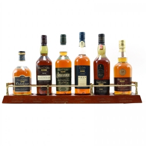 Classic Malt Distillers Edition 6 x 70cl and Plinth /Including 1986 Lagavulin and 1988 Talisker