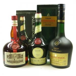 Cognac and Liqueur Selection 2 x 1 litre & 1 x 70cl