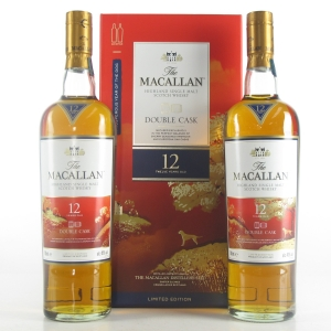Macallan 12 Year Old Double Cask 2 x 70cl / Year of the Dog