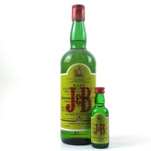 J&B Scotch Whisky 1970s / Includes Miniature