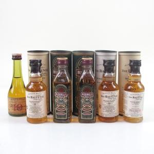 Balvenie and Bushmills Miniature Selection 6 x 5cl