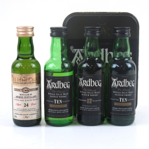 Ardbeg Miniature Selection 4 x 5cl / Including 24 Year Old Douglas Laing