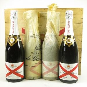Champagne De Castellane 75cl x 4 Front