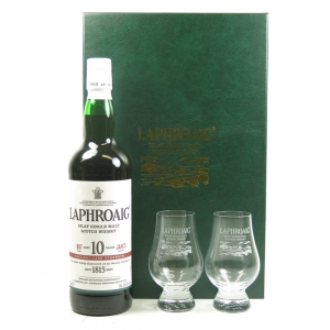 Laphroaig 10 Year Old Cask Strength Batch #07 200th Anniversary / Gift Pack Front