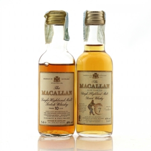 Macallan 7 & 10 Year Old Miniature 2 x 5cl / Giovinetti Import