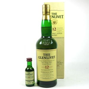 Glenlivet 12 Year Old and Miniature