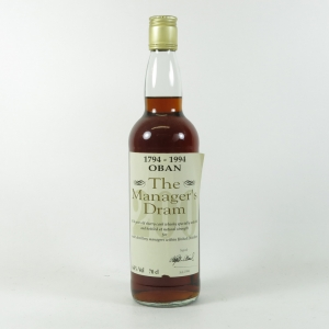Oban 16 Year Old Manager's Dram Bi-Centenary 1994 front