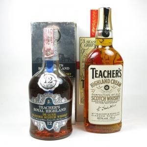 Teacher's Royal Highland and Teacher's 2 x 75cl