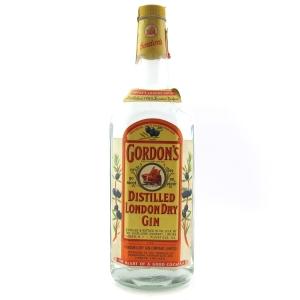 Gordon's London Dry Gin 1 Quart 1970s