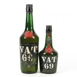 Vat 69 26 2/3 Fl Ozs & 13 1/3 Fl Ozs 1960s