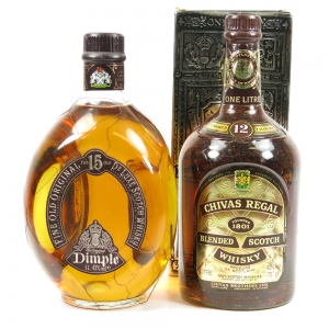 Dimple 15 Year Old and Chivas 12 Year Old 2 x 1 Litre