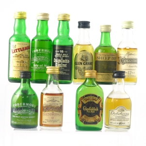 Scotch Malt Whisky Selection 10 x Miniature