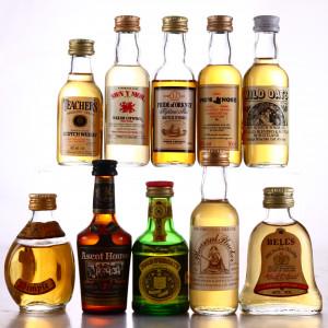 Scotch & Welsh Whisky Miniatures x 10