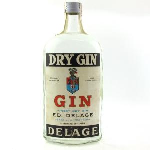 Delage Dry Gin 1 Litre 1960s