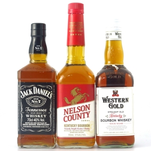 American Whiskey Selection 3 x 70cl