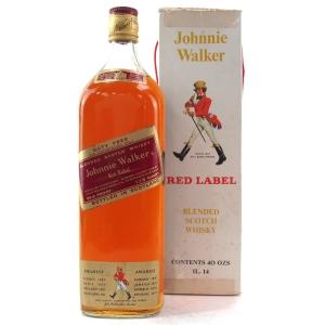 Johnnie Walker Red Label 40 Fl. Oz. 1960/70s