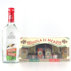 Miscellaneous Tequila Selection 70cl and 6 x 5cl
