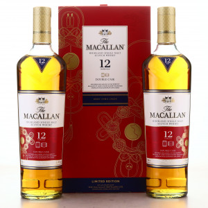 Macallan 12 Year Old Double Cask 2 x 70cl / Year of the Rat