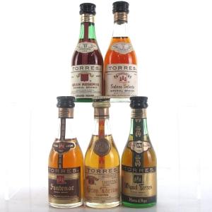 Torres Brandy Miniatures x 5