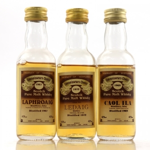 Gordon and MacPhail Island Miniature Selection x 3 / includes Laphroaig 1967